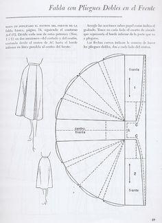 Falda con Pliegues Dobles en el Frente