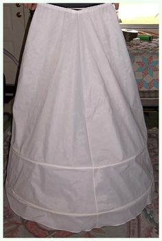 HOOP SKIRT SLIP For Dress Skirt Costume White 2 by TheMaineCoonCat, $19.00