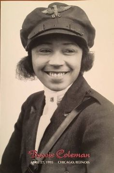 """Elizabeth """"Bessie"""" Coleman (January 1892 – April was an American civil aviator. She was the first female pilot of African American descent and the first person of African American descent to hold an international pilot license. Women In History, Black History, Bessie Coleman, Kings & Queens, Female Pilot, Female Marines, Texas History, African Diaspora, Before Us"""