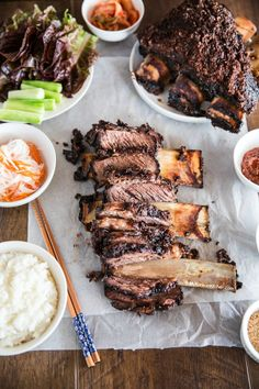 Supremely tender and delicious oven baked Korean BBQ beef ribs They are a crowd pleaser and great to serve on special dinner occasions!