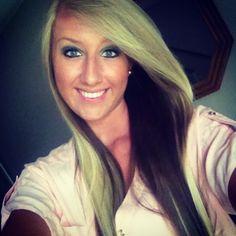 Blonde hair brown underneath