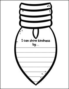 Lights of Kindness - Holiday Craft and Writing Activity! Kindness Activities, Counseling Activities, Holiday Activities, Writing Activities, Holiday Crafts, Classroom Crafts, Kindergarten Classroom, Classroom Activities, Classroom Organization