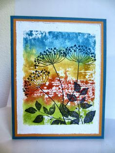 Faux Watercolor Background: Paper Seedlings