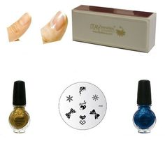 Konad Gold Blue Pearl 11 ml Special Polish Image Plate M59 Itay Beauty Nail Buffer (Bundle of 4 Items) -- Find out more about the great product at the image link.