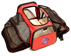 Premium Airline Approved Expandable cat Carrier by cat Peppy- TWO SIDE Expansion, Designed for Cats, Dogs, Kittens, Puppies - Extra Spacious, Comfortable, Soft Sided Travel Carrier! *** Check out this great image  : Cat Cages, Carrier and Strollers