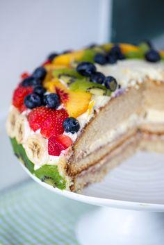 Bløtkake - Norwegian Cream Layer Cake - My WordPress Website Norwegian Cuisine, Norwegian Food, Summer Cake Recipes, Summer Cakes, Cheesecake Recipes, Dessert Recipes, Swedish Recipes, Norwegian Recipes, Swedish Foods