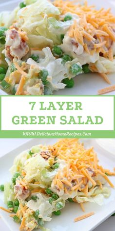 7 Layer Green Salad - recipe needs to have language corrected Healthy Cooking, Healthy Eating, Cooking Recipes, Healthy Recipes, Easy Cooking, Cooking Ham, Cooking Rice, Amish Recipes, Quick Recipes