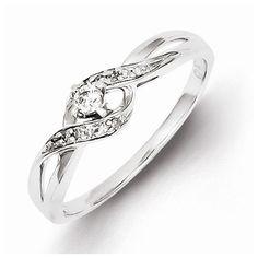 ShoppingATX.com - Sterling Silver Diamond Promise Ring - Size 6, $174.88 (http://www.shoppingatx.com/sterling-silver-diamond-promise-ring-size-6/)
