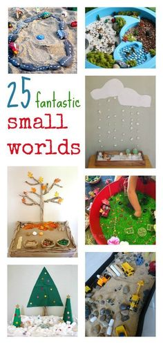 25 small world pretend play activities Sensory Activities, Sensory Play, Preschool Activities, Sensory Bins, Small World Play, Pretend Play, Role Play, Toddler Fun, Learning Through Play