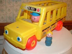 Fisher Price School Bus and Girl by buybackthefarm on Etsy, $15.00