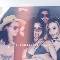 "goodforyoumanips:  "" ""Beach day"" || Harry Styles and Selena Gomez (harlena) manip  """