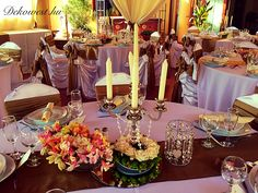 Table Settings, Table Decorations, Yellow, Brown, Pink, Home Decor, Elegance Fashion, Decoration Home, Room Decor