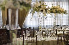 The Ritz-Carlton Ballroom is the perfect venue for an elegant wedding reception.