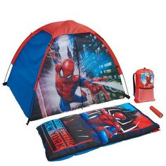 Marvel Camp Kit – Spiderman, Multi-Colored – Everything for Camping Camping Toys, Camping Set, Camping Lunches, Spiderman Kids, Kids Toys For Boys, Kids Ride On, Outdoor Play, Boy Room, Decoration