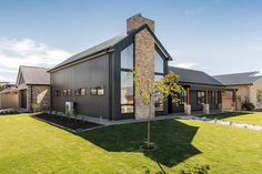 Building a Scandi Barn home in picturesque Strathalbyn Custom Built Homes, Custom Home Builders, Architecture Design Concept, Recycled Brick, Modern Barn House, Black House Exterior, Exterior Cladding, Modern Farmhouse Exterior, Layout