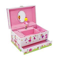 Enchanted Fairy Kids Musical Jewelry Box - Glittery Kids…