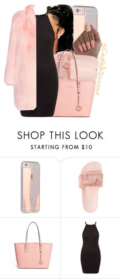 """Fluff Pink"" by chynelledreamz ❤ liked on Polyvore featuring Puma, MICHAEL Michael Kors and Altuzarra"