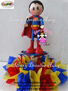 Ideas y detalles Auxy: FOFUCHO SUPERMAN SUPERHEROES CENTROS DE MESA SUPERMAN