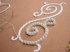 Bordado en perlas
