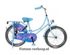 Omafiets Blauw 22 Inch | bestel gemakkelijk online op Fietsen-verkoop.nl