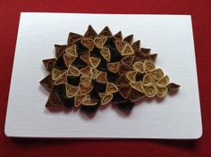 Hedgehog Card  3D Wild Animal Wildlife Art Paper by Quillextra