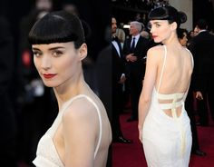 Rooney Mara in Givenchy Haute Couture Spring Rooney Mara wore a Givenchy Haute Couture Gown that seems to be inspired by this dress . Wedding Dress Backs, Wedding Dresses, Low Back Dresses, Formal Dresses, Haute Couture Gowns, Rooney Mara, Givenchy, Awards, Actresses