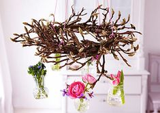 Wreath - hand off some jars fill with flowers or candles use inside or out
