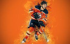 Download wallpapers Connor McDavid, 4K, art, Canadian hockey player, grunge style, Edmonton Oilers, paint art, NHL, USA, creative art, hockey, orange grunge background Edmonton Oilers, Grunge Style, Nhl, Canadian Hockey Players, Connor Mcdavid, Cool Coffee Tables, Sports Wallpapers, Orange, Ice Hockey