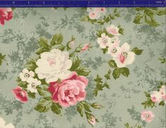 Yuwa Roses on Sage KS816836E Cotton Fabric by agardenofroses, 85n/1y in cons, Etsy