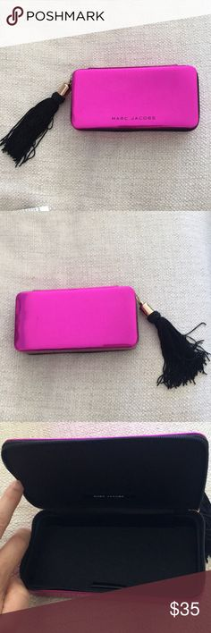 "Marc Jacobs make up case Marc Jacobs hot pink make up case w/black tassel zipper. Great condition! 61/2"" X 3 1/4"" Marc Jacobs Bags"