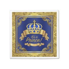 Royal Blue Gold Crown Prince Child Bathe Serviette. >> Find out even more at the image link