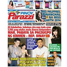 Pinoy Parazzi Vol 7 Issue 147 December 01 – 02, 2014 http://www.pinoyparazzi.com/pinoy-parazzi-vol-7-issue-147-december-01-02-2014/