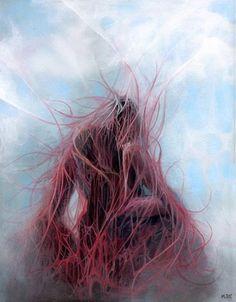 Painting surreal symbolic beksinski fantasy art figurative emancipation martin lynch smith