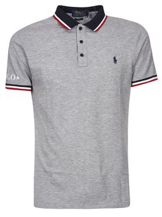 Grey cotton stripe detail polo shirt from Polo Ralph Lauren featuring a classic collar, a front button fastening, a front logo patch, short sleeves, a logo to the arm and a slim fit. Polo Rugby Shirt, Grey Polo Shirt, Rugby Shirts, Ralph Lauren Store, Ralph Lauren Logo, Camisa Polo, Polo Shirt Outfits, Boy Outfits, Boys Designer Clothes