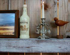 Decoración para el Hogar - 38 Pulgadas - Wet Bar Shelf - Reclamada madera - Encalada Gray - flotante - Wall Hanging - Granja Chic - Estantes