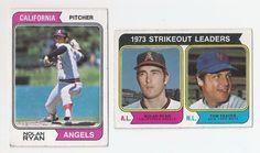 1974 Nolan Ryan & 1974 Ryan/Seaver Baseball Cards MLB Hall of Famers   #CaliforniaAngels