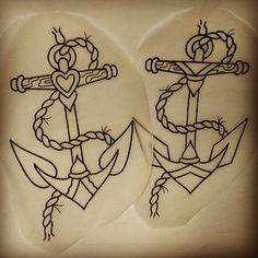 His & Hers anchor tattoos
