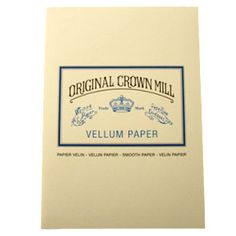 This TRULY is fantastic paper! - Crown Mill A5 Vellum Writing Paper - so smooth, lovely with a fountain pen