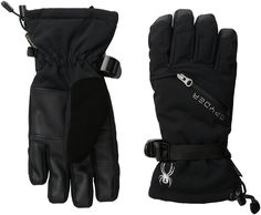 Spyder Vital Gore Tex conduct-Ski Glove, Black, X-Small. New waterproof and breathable insulated ski glove with removable liner. Inlcudes removable stretch fleece liner glove. Guaranteed to keep you Dry gore-tex waterproof, breathable. Designed with conductive material for handheld touch screen devices. Zippered heater pack pocket.