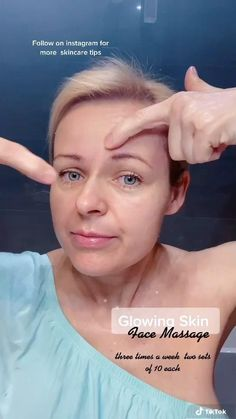 Massage Facial, Facial Yoga, Self Massage, Facial Fillers, Face Exercises, Beauty Tips For Glowing Skin, Face Skin Care, Tips Belleza, Skin Treatments
