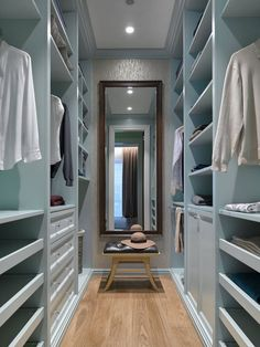 Transitional Walk-In Closet - Moscow