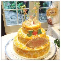 インスタで発見♡自慢したいくらい可愛いウェディングケーキのデザイン15選にて紹介している画像 Beautiful Cakes, Food Art, Diy And Crafts, Wedding Cakes, Deserts, Wedding Decorations, Food And Drink, Sweets, Weddings