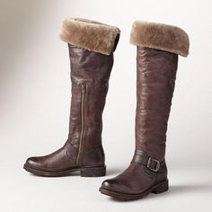 Valerie Shearling boots (Frye)