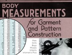 """""""Standard Body Measurements & How to Create Your Own Size Chart"""" (from BASTE + GATHER)"""