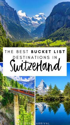 Switzerland Destinations, Switzerland Travel Guide, Places In Switzerland, Switzerland Itinerary, Beautiful Places To Visit, Cool Places To Visit, Places To Travel, Travel Destinations, European Destination