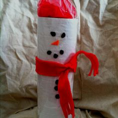 Functional bathroom Christmas decor! TP snowman.