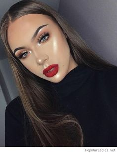 Beautiful makeup with matte lips