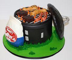 Fathers Day BBQ Cake. Dat zou nou echt een geweldige taart voor mijn vader zijn geweest. Hij was gek op barbecuen!