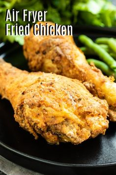 This easy Air Fryer Fried Chicken is made with drumsticks, thighs, breasts, and wings. It is made without buttermilk and you can use bone-in or boneless chicken, or even chicken tenders. It's a healthier fried chicken recipe that makes tender crispy fried chicken without using oil! #friedchicken #chicken #airfryer #airfryerrecipes Recipe Chicken Breast Bone In, Air Fryer Recipes Chicken Breast, Air Fryer Dinner Recipes, Air Fry Recipes, Best Dinner Recipes, Healthy Fried Chicken, Crispy Baked Chicken Thighs, Air Fryer Fried Chicken, Fried Chicken Recipes