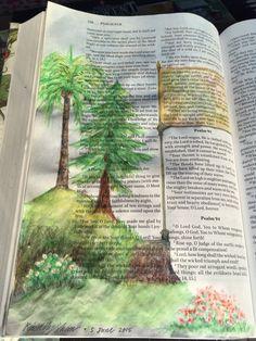 """Bible Art Journaling """"Flourishing Trees"""" by Kimberly Shaw"""